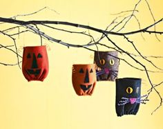 Start stitching up a few easy cats and pumpkins in the morning, and by evening they'll be ready for Halloween fun. Halloween Sewing Projects, Halloween Quilts, Halloween Design, Fall Halloween, Penny Rug Patterns, Pumpkin Pillows, Cute Pumpkin, Goodie Bags, Halloween Decorations