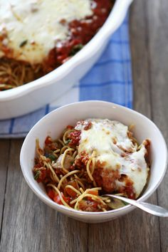 Baked Sausage and Vegetable Spaghetti by goodlifeeats #Spaghetti #Vegetables #Sausage