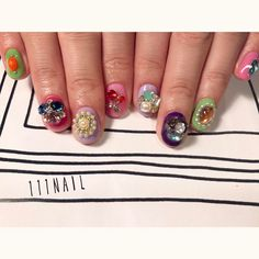 ▫◽✨ #nail#art#nailart#ネイル#ネイルアート#bijou#princess#kawaii#gorgeous#ショートネイル#princess111#ネイルサロン#nailsalon#表参道#bijou111 (111nail)
