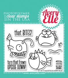 ScrapbookPal.com - Avery Elle Clear Stamps - That Bites, $6.40 (http://www.scrapbookpal.com/avery-elle-clear-stamps-that-bites/)