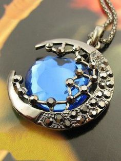 Half Blue Moon Neckpiece by Mary Arthur