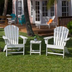The+POLYWOOD+South+Beach+Conversation+Set+offers+a+classic+adirondack+look+with+exceptional+comfort.++The+seat+and+back+on+this+adirondack+chair+is+nicely+contoured+to+maximum+the+comfort+level.+(more+below) $1,369.00