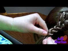 Video on how to do the crown braid to a ponytail for McKenna or other dolls. #gymnastics #gymhair