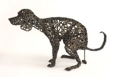 """Uhm, I kind of need one of these; dogs made from recycled bike parts! 