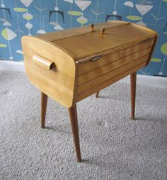 1960s midcentury-style sewing box
