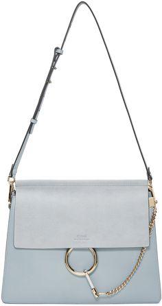 Chloé: Blue Medium Faye Bag