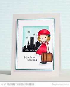 Adventure Is Calling stamp set and Die-namics, You're Super, Zig Zag Stitched Square STAX Die-namics - Stephanie Klauck #mftstamps