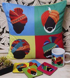 Set of Cushions, Coasters & Mug
