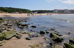 Vista de la playa desde Astondo, piedras incluidas