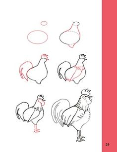 How to Draw a Rooster!