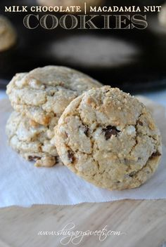 Milk Chocolate and Macadamia Nut Cookies