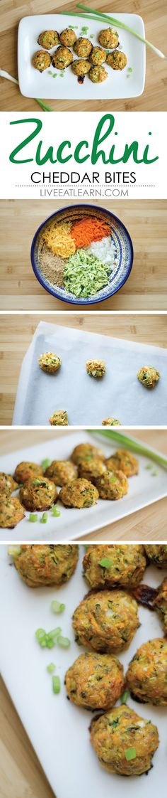 Cheesy zucchini bites // Live Eat Learn
