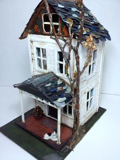 Miss Sarah's House on Motsy Lane  artist mixed by SusanHopkirk, $175.00