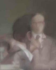 Gerhard Richter Gilbert & George 1975 x cm) Gerhard Richter, European Paintings, Contemporary Paintings, Gilbert & George, Dark Photography, Art Plastique, Portraits, Figurative Art, Painting & Drawing