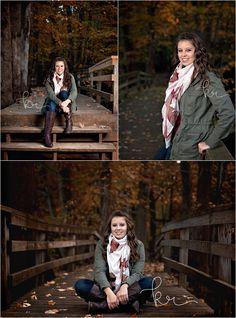 Senior, girl, class of 2016, outdoors, photos, photographer, photography, argyle, burgundy, long hair, brunette, scarf, bridge, stairs, jacket, cargo