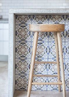 cool moorish inspired tiles for a kitchen bar (Cool Kitchen Bar)