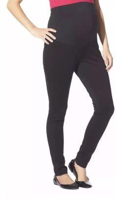 dc30dad0dcce2 NWT Liz Lange Maternity Over The Belly Ponte Leggings Pants Women's Large L  | eBay Ponte
