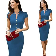 Janecrafts New Fashion Fit and Flare Women's Party Office Dresses