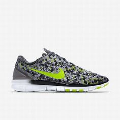 separation shoes 9ea11 5f555  92.40 nike free tr 5,Nike Womens Cool Grey Volt Black Free TR 5 Print  Training Shoe