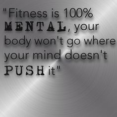 Inspirational Fitness Quote - (silver modern)