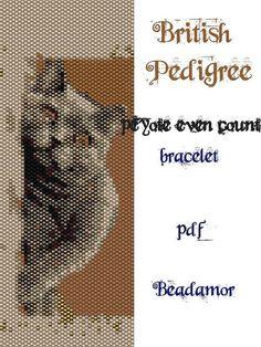 Peyote Pattern for bracelet: British Pedigree Cat by Beadamor