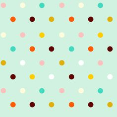 Colorful Mint Polka dots - small fabric by inspirationz on Spoonflower - custom fabric