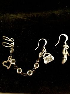 """Girls Just Love To Shop """"'Ear Story"""" Cuff Earrings by AReflectiveBead on Etsy"""