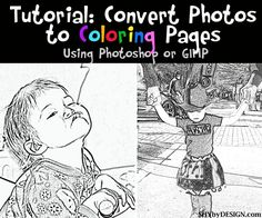 Tutorial on how to change your favorite picture into a coloring