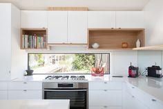 Mount Martha House | White kitchen + timber detail.