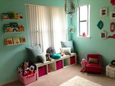 Girls Playroom - Kids Window Seat