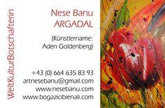 Nese Banu Argadal  Visitenkarte Cover, Visit Cards
