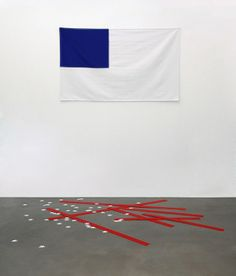 Yarisal & Kublitz-Just Like Starting Over, 2010 ,Canvas, acrylicglass, Dim variable (flag 160 x 97 cm) Anti Flag, Bokashi, Banner, Blue Texture, Creative Skills, Flag Design, Graphic Prints, Graphic Design, Creative Inspiration