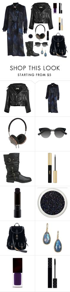 """The lightning strike"" by jessblock on Polyvore featuring Balenciaga, Frends, Ace, Report, Yves Saint Laurent, MAC Cosmetics, Ippolita, Serge Lutens, Gucci and Snowpatrol"