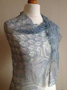 Haruni Hand Knitted Silk Lace Shawl / Wrap by Snugglescuddles, £90.00