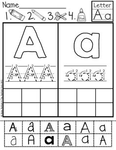 ABC Cut and Paste fonts!  Great for building fine motor skills and letter identification with different fonts!