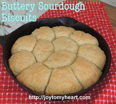 One more perfectly wonderful recipe using the extra sourdough starter you have to discard at a feeding. Make these Buttery Sourdough Biscuits! Sourdough Biscuits, Sourdough Rolls, Sourdough Recipes, Bread Recipes, Cooking Recipes, Dough Starter Recipe, Starter Recipes, Bread Without Yeast, Recipe Using