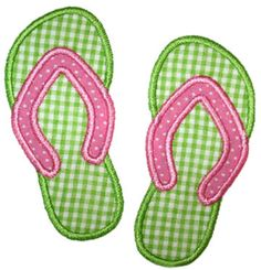 See It All :: Flip Flops Applique - Embroidery Boutique