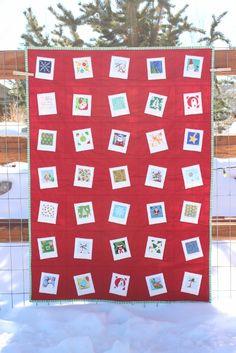 Modern Polaroid Holiday Mini Quilt