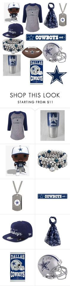 """Dallas Cowboys"" by maggie1515 ❤ liked on Polyvore featuring Dolan Bullock, New Era, Forever Collectibles and plus size clothing"