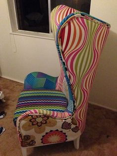 Nel Lusso Wingback Patchwork Armchair