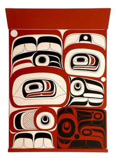 Too bad the new totem pole in front of our library doesn't look like this! Haida Kunst, Haida Art, Native Canadian, Canadian Art, American Indian Art, Native American Art, Claude Monet, Vincent Van Gogh, Native Design