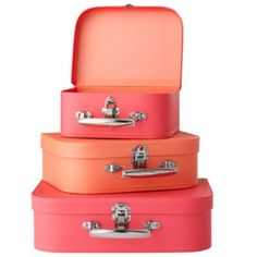 Bon Voyage Suitcase (Pink/Peach) - these are so freaking cute I can't stand it.