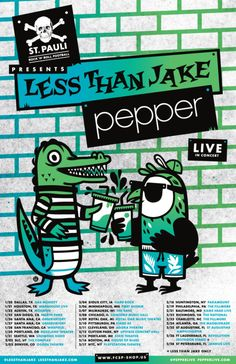 Pepper and Less Than Jake Announce Co-Headline Tour – PEPPER and LESS THAN JAKE Announce National Co-Headline Tour Limited Edition Pre-Sale Bundles Available Now Alternative feel-good rock band PEPPER and ska luminaries LESS THAN JAKE have joined forces for a national co-headline tour. The 30-show outing will kick off on January 20th at Dallas' Gas Monkey Live... #lessthanjake #pepper #tour