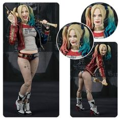 Suicide Squad Harley Quinn SH Figuarts Action Figure - Bandai Tamashii Nations - Suicide Squad - Action Figures at Entertainment Earth Margot Robbie Harley, Harley Quinn Comic, Comic Character, Marvel Dc, Action Figures, Cosplay, Sexy, Photos, Women