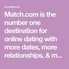 Match.com is the number one destination for online dating with more dates, more relationships, & more marriages than any other dating or personals site. Local Dating, Online Dating, Meet Local Women, Meeting Someone New, Meet Singles, Number One, Dates, Relationships, Night