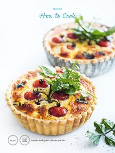 Tomato & goat cheese quiche from Donna Hay