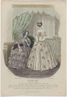 Le Bon Ton, 1847, 8e année, I.er Vol, 16e Liv. No. 28 : Chapeau de Maurice Beauvais..., anoniem, 1847