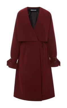 Fluid Stretch Wool Gabardine Trench Coat by ROSETTA GETTY for Preorder on Moda Operandi