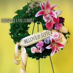 Ivy living wreath. In memorium. Brundageflorist.com. Brundage lane florist. Flower bouquet