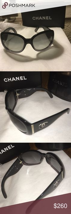 Chanel Sunglasses MINT condition authentic CHANEL sunglasses. Black with midnight lenses these are absolutely fabulous. Includes box and case. CHANEL Accessories Sunglasses